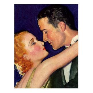 Vintage Lovers Postcard