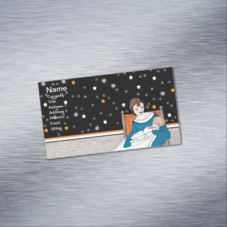 Vintage Loving Mother Baby Stars Mother's Day Magnetic Business Card