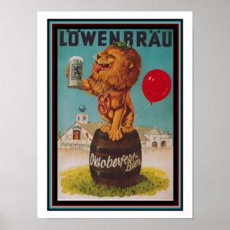 Vintage Lowenbrau Poster 12 x 16
