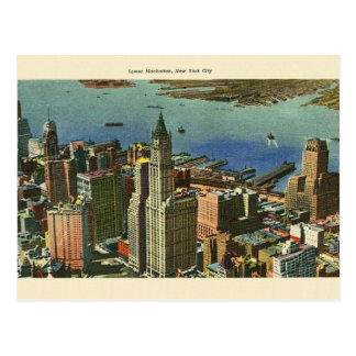 Vintage Lower Manhattan Travel Post Card