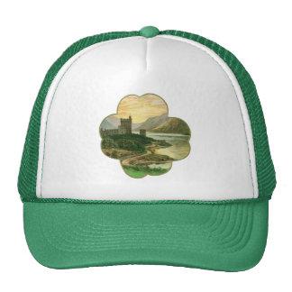 Vintage Lucky Gold Shamrock with an Irish Castle Trucker Hat