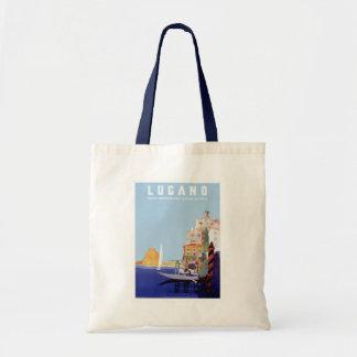 Vintage Lugano, Switzerland Travel Poster Tote Bag