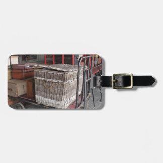 Vintage luggage and wicker basket - Range Luggage Tag