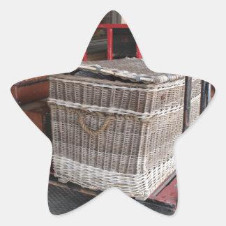 Vintage luggage and wicker basket - Range Star Sticker