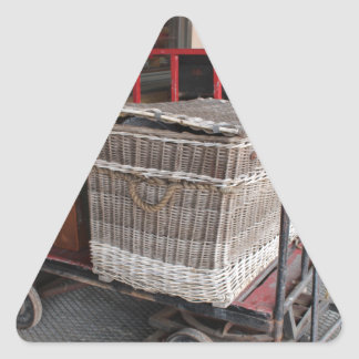 Vintage luggage and wicker basket - Range Triangle Sticker