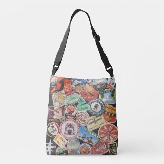 Vintage Luggage Sticker Bag