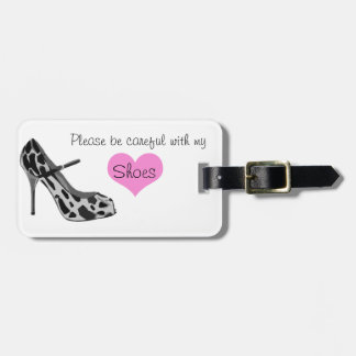 Vintage Luggage Tag for the Shoe Lover