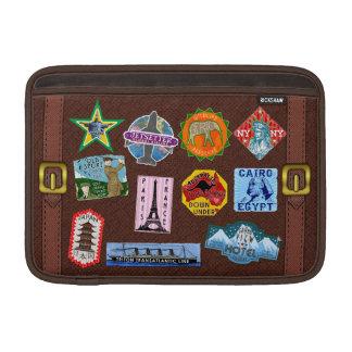 Vintage Luggage World Travel Suitcase Stickers MacBook Sleeve