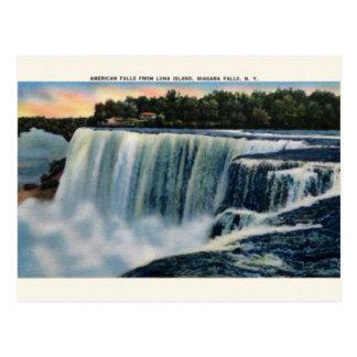 Vintage Luna Island Niagara Falls Post Card