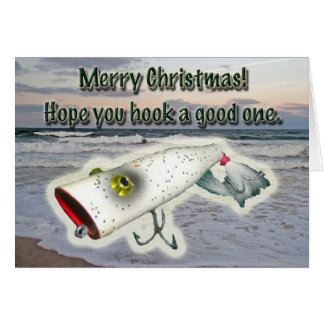 Vintage Lure Merry Christmas Card