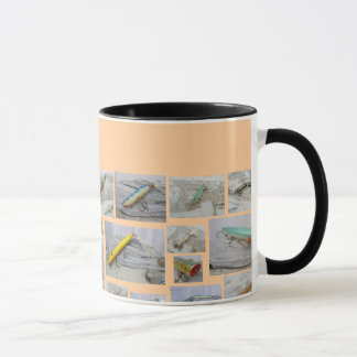 Vintage Lures Patches of Pictures Mug
