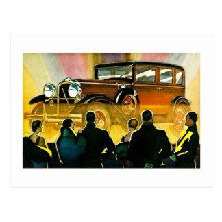 Vintage Luxury Car Advertisement Postcard
