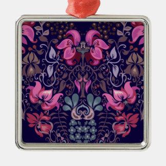 Vintage luxury design. Heart stylish pattern Metal Ornament