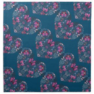 Vintage luxury design. Heart stylish pattern Napkin