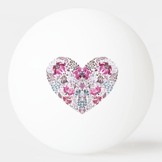Vintage luxury design. Heart stylish pattern Ping Pong Ball