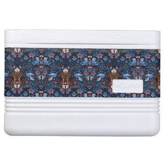 Vintage luxury floral garden blue bird lux pattern