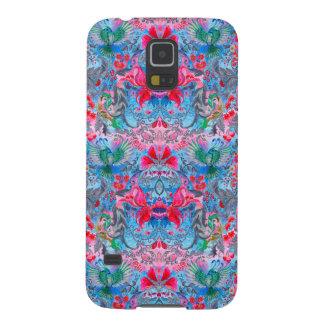 Vintage luxury floral garden blue bird lux pattern cases for galaxy s5