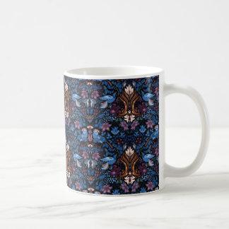 Vintage luxury floral garden blue bird lux pattern coffee mug
