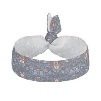 Vintage luxury floral garden blue bird lux pattern hair tie