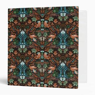 Vintage luxury floral garden gold bird lux pattern binders