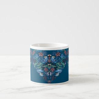 Vintage luxury Heart with blue birds happy pattern