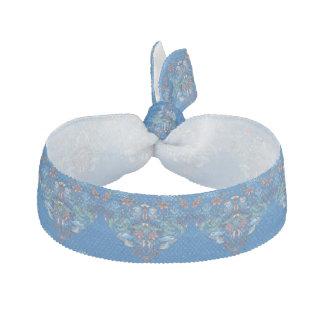 Vintage luxury Heart with blue birds happy pattern Hair Tie