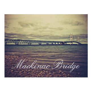 Vintage Mackinac Bridge Postcard