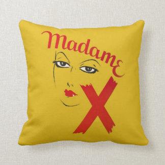 Vintage Madame X Movie Film Bold Graphic Woman Throw Pillow