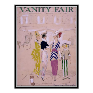 Vintage Magazine Cover 1914 Art Deco Poster