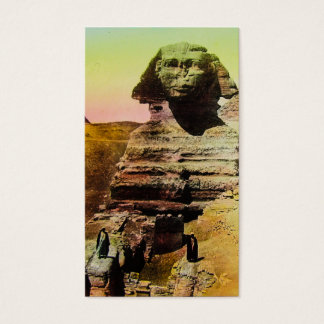 Vintage Magic Lantern Slide Great Sphinx of Giza Business Card
