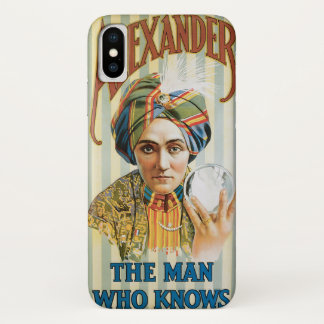 Vintage Magic Poster, Alexander, the Man Who Knows Case-Mate iPhone Case