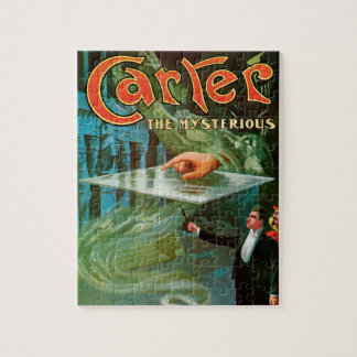 Vintage Magic Poster, Carter the Mysterious Jigsaw Puzzle