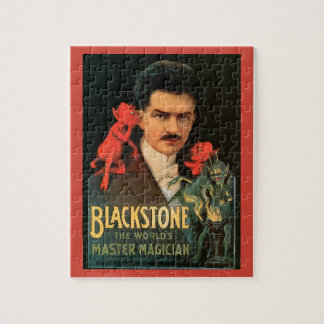 Vintage Magic Poster, Great Blackstone Magician Jigsaw Puzzle