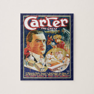 Vintage Magic Poster, Magician Carter the Great Jigsaw Puzzle