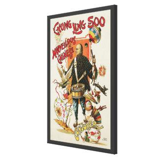 Vintage Magic Poster, Magician Chung Ling Soo Canvas Print