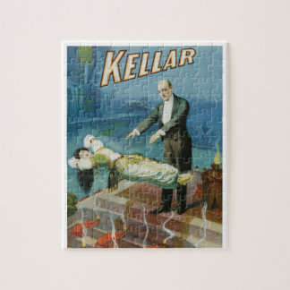 Vintage Magic Poster, Magician Harry Kellar Jigsaw Puzzle