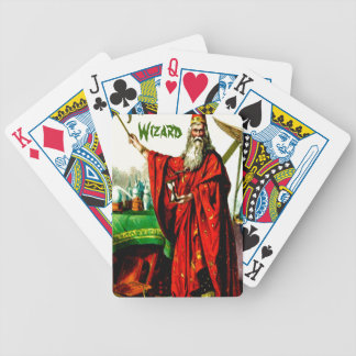 Vintage Magic Wizard Merlin Fate Litho Label Art Bicycle Playing Cards