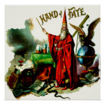 Vintage Magic Wizard Merlin Fate Litho Label Art Poster