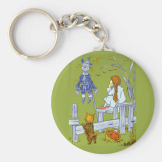 Vintage Magician of Oz, Dorothy / Toto Tale Gifts Basic Round Button Keychain