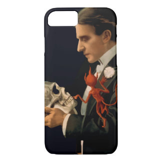 Vintage Magician, Thurston Holding a Human Skull Case-Mate iPhone Case