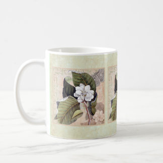 Vintage Magnolia Elegant Damask Collage Coffee Mug