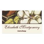 Vintage Magnolia Flower Professional Business Card
