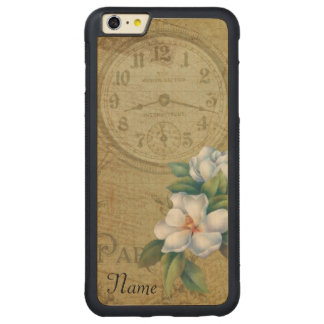 Vintage Magnolia Flowers Carved Maple iPhone 6 Plus Bumper Case