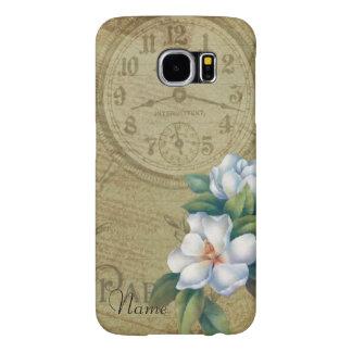 Vintage Magnolia Flowers Samsung Galaxy S6 Cases