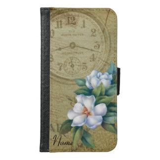 Vintage Magnolia Flowers Samsung Galaxy S6 Wallet Case