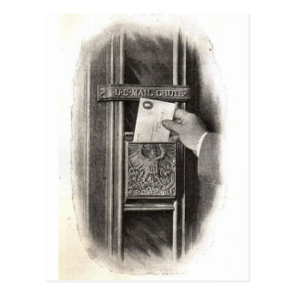 Vintage Mail Box Postcard