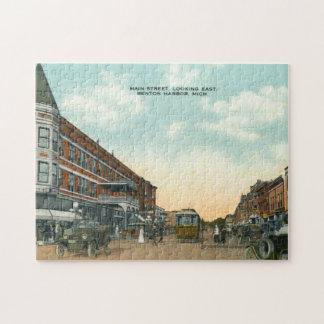 Vintage Main Street East Benton Harbour Michigan Jigsaw Puzzle