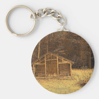 Vintage Maine Basic Round Button Keychain