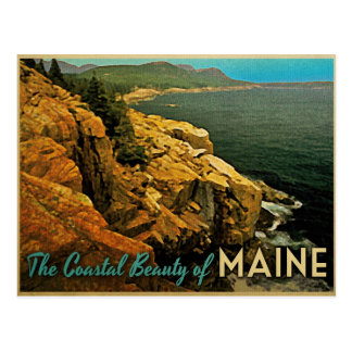 Vintage Maine Coast Postcard