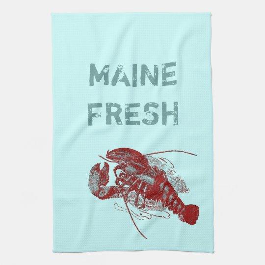 Vintage Maine Fresh Lobster Towels